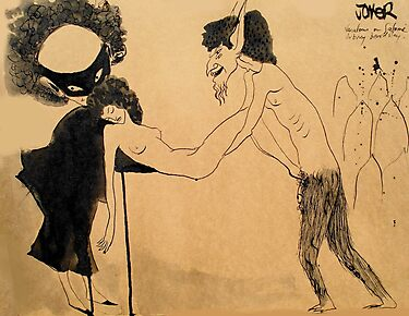 doodle after Beardsley - (Salome naughtiness and mischief _a variation_) by Loui  Jover
