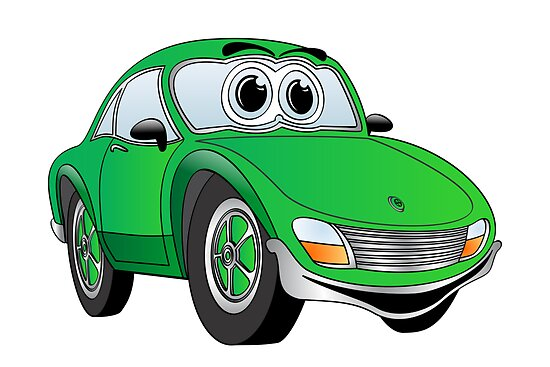 Green Sports Car by Graphxpro