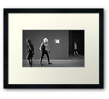 Four Strangers at GOMA Framed Print