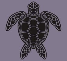 Green Sea Turtle Design - Black by fizzgig
