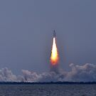 Atlantis shuttle launch by Davidsdigits