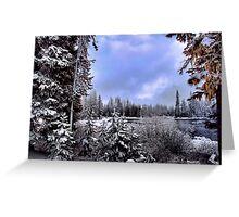 Snow at Big lake Greeting Card