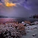 Winters Snow at Big Lake by Charles &amp; Patricia   Harkins ~ Picture Oregon