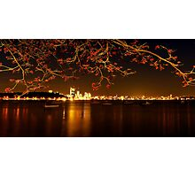 """""""City In Flame"""" Photographic Print"""