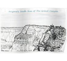 A GRAND Canyon sketch Poster