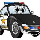 Sheriff Black and White Sports Car by Graphxpro