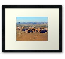 The Canyon Rim Framed Print