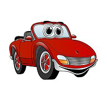 Convertible Red Sports Car Photographic Print