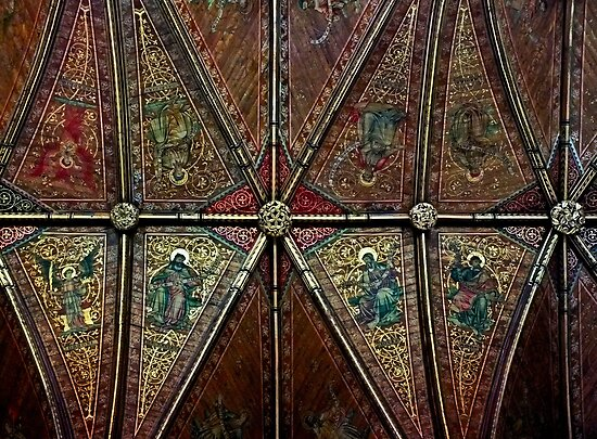 Chester Cathdral Ceiling detail by Yampimon