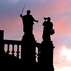 Statues in Santiago de Compostela by Jasna