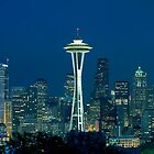Seattle Skyline at Night (Washington) by Brendon Perkins