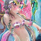 Pink Ribbon Mermaid by Robin Pushe'e