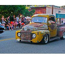 Beater truck goes cruising Photographic Print