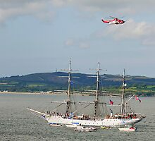 Tall Ship Christian Radich at Duncannon, County Wexford, Ireland by Andrew Jones