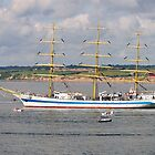 Russian Tall Ship Mir, off Duncannon, County Wexford, Ireland by Andrew Jones