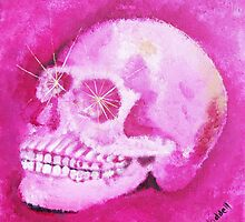 crystal rose quartz skull by renewaddell