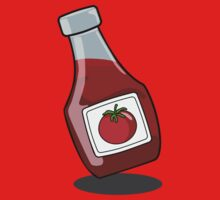 Cartoon Ketchup Bottle by mdkgraphics