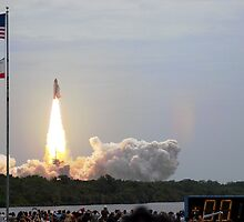 Atlantis lifts off on STS-135 by chibiphoto