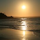 Sun setting in New Zealand by DJ-Stotty