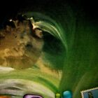 """Green"":  Detail from ""Elementals"" by Sheila Van Houten"