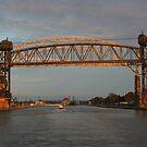 Sunset on the International Bridge by Karen K Smith