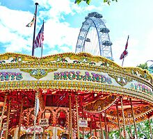 Merry go Round Versus the Big Wheel by ElsieBell