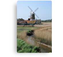 Cley Windmill and the River Glaven Canvas Print