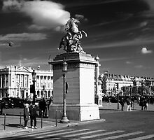 Statue of galloping horse, Paris by Charuhas  Images