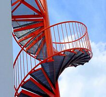 The orange spiral stair 2 by bubblehex08