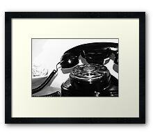 A Watched Phone Never Rings Framed Print