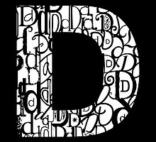 The Letter D, black background by Julie Hartman