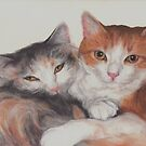 Sleepy Kitties by Pam Humbargar