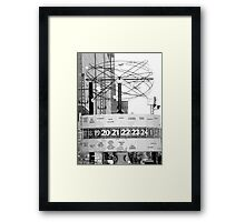 BERLIN - WORLDTIME! Framed Print