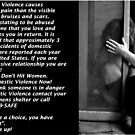 """Stop Abuse Against Women! """"Real Men Don't Hit Women"""" by MJD Photography  Portraits and Abandoned Ruins"""