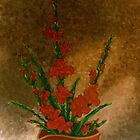 Ikebana with gladioli by Madalena Lobao-Tello