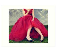 Il Vestito Rosso... Art Print
