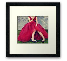 Il Vestito Rosso... Framed Print