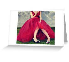 Il Vestito Rosso... Greeting Card