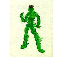 The Green Superhero Photographic Print