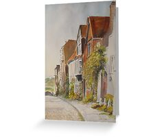 A lane in Rye - East Sussex Greeting Card