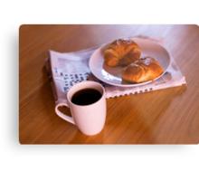 coffee and croissants Metal Print