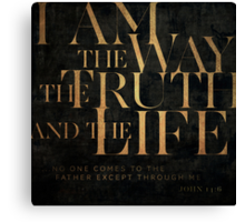 John 14:6 II Canvas Print
