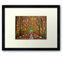 A wonderful place to be  Framed Print