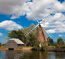 Norfolk Broads Windmill by Imaginato