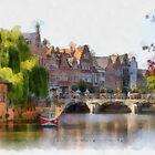 Lier - Bridge over the river Nethe - Belgium by Gilberte