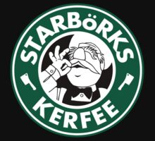 'Starbörks Kerfee' - Smaller Logo (Starbucks / The Swedish Chef) by James Hance