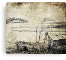Cabin In The Wilderness Canvas Print
