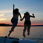 Sunset Swim - Ottawa River, Ontario by Debbie Pinard