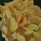 Open Light Yellow Rose by Martha Mitchell