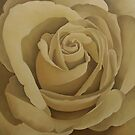 Cream Rose 2 by Martha Mitchell